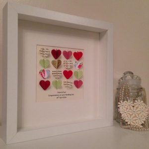 Personalised wedding heart picture