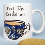 Feet up kettle on mug