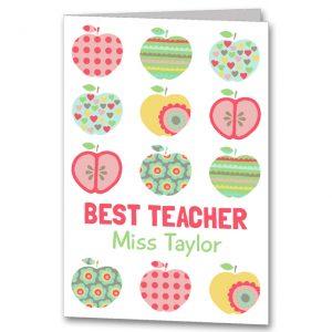 Personalised teacher card by Clarkie Design