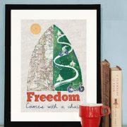'Freedom' bike print