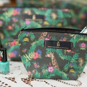 Jungle Print cosmetic bag