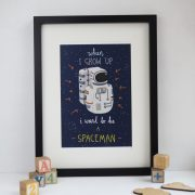 I want to be a spaceman A4 print
