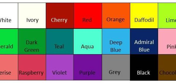Colour chart for hole pictures