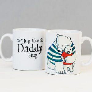 Daddy hugs mug