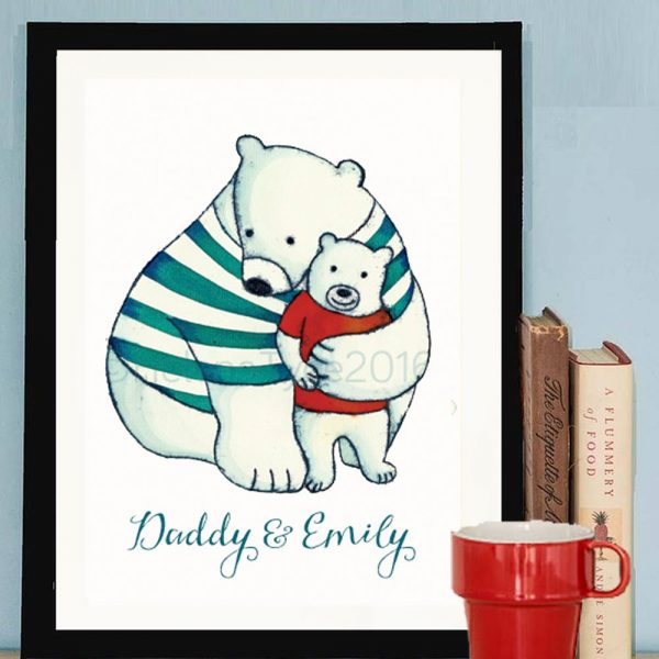 Personalised daddy hugs print