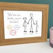 We love dad framed picture