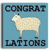 'CongratEWElations' greeting card
