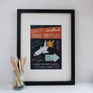 Quality space shuttle print
