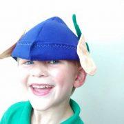 Elf, pixie, Ben Elf inspired hat, Forest Adventure Hat age 3 - 6 years