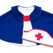 Dress up nurses cape and hat for children age 3 - 6 yrs