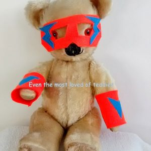 Superhero mask and cuffs for your Teddy