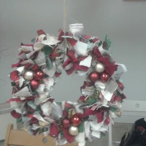 Christmas rag wreath workshop