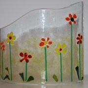 Summer flower scene using glass
