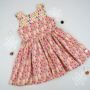 Christmas Pastel Tree Party Dress
