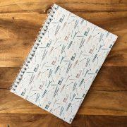 Ski patterned spiral bound notebook