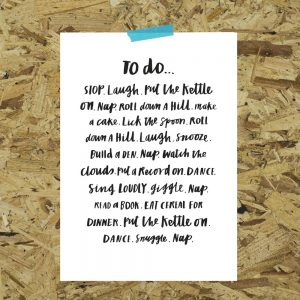 A4 To do list print