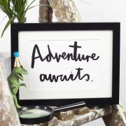 Adventure awaits - A5 print