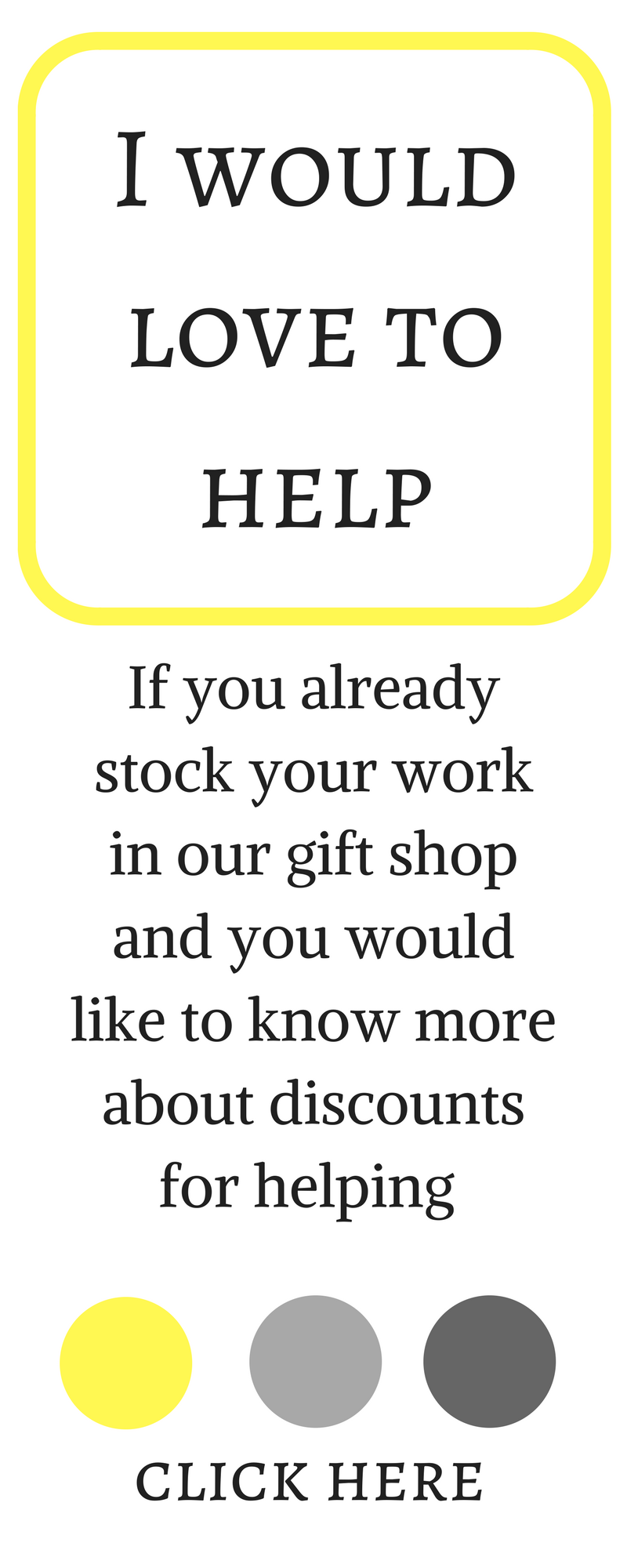 Help in the gift shop