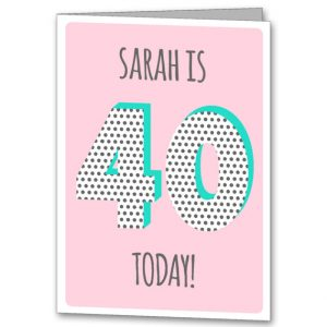 personalised 40 card