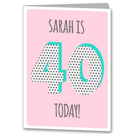 personalised 40 card