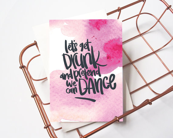 let'sgetdrunk greeting card