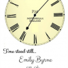 Time stood still personalised new baby print