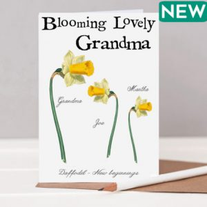 Blooming lovely grandma's card