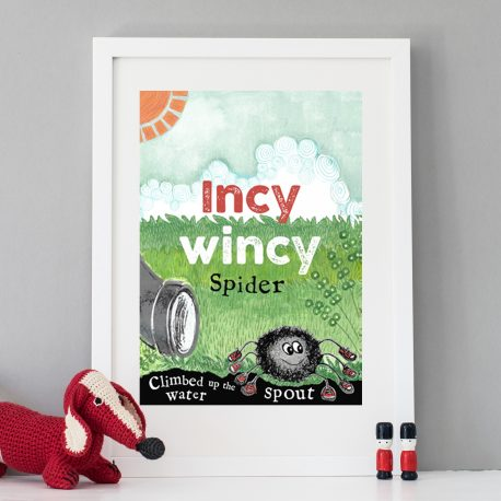Incy Wincy spider children's print