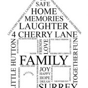Our Home personalised print