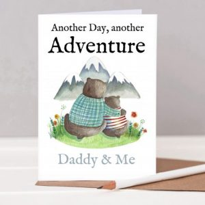 Adventure personalised card for daddy