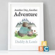 Daddy Bear Adventure A4 Print