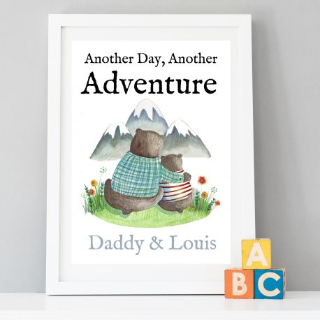 Another day , another adventure personalised print