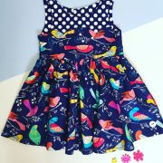 Blue bird party dress - 2 - 3 years