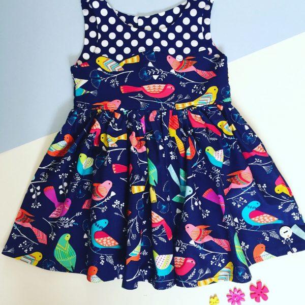 Blue Bird party dress