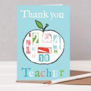 Teacher apple card - thank you