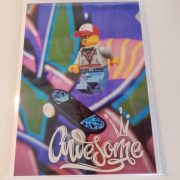 Awesome skater greeting card