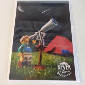 Never stop exploring - greetings card