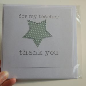 Thank you teacher - star card