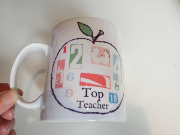 Top teacher mug
