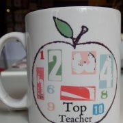 Top teacher - apple mug