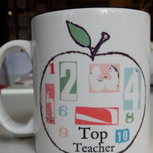Top teacher mug