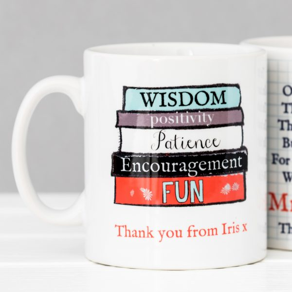 Personalised teacher m Personalised teacher mug