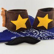 Cowboy Cuffs, Bandanna and Moustache Set