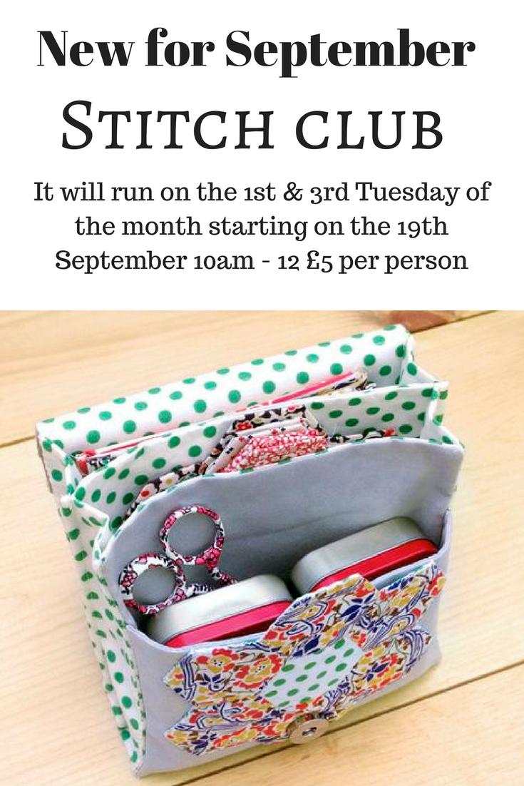 Stitch club starting soon