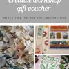 Creative workshop gift voucher