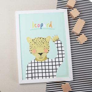 Leopard A4 print perfect for a child's bedroom or playroom