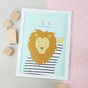 Lion A4 print a lovely child's gift