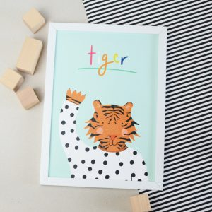 A4 tiger print perfect for a child's room