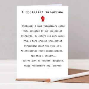 """A Socialist Valentine"" Poem Card"