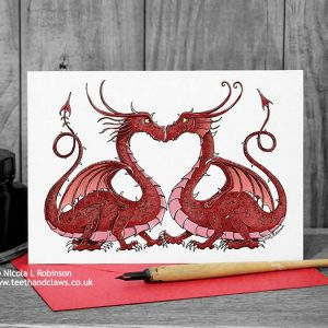 Dragon Valentine / Wedding / Anniversary Card